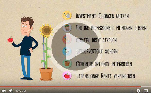 Sechs Vorteile bietet die Fondspolice. Welche das sind, erfahren Sie im Video. Foto: Screenshot Youtube