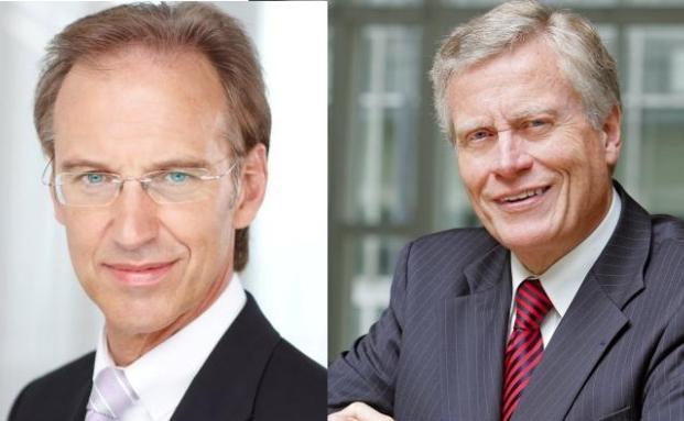 KKH-Allianz-Chef Ingo Kailuweit (links) und Techniker-Chef<br>Norbert Klusen.