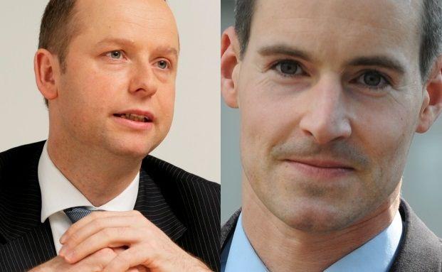 Nahezu gleichauf in der Gunst der Maklerpools: DWS-Manager Henning Gebhardt (links) und Tim Albrecht