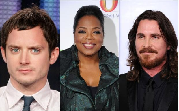 Prominente, die im Januar Geburtstag haben (von links nach<br>rechts): Herr-der-Ringe-Star Elijah Wood (27.1.1981),<br>Talkqueen Oprah Winfrey (29.1.1954) und<br>Batman-Darsteller Christian Bale (30.1.1974). Fotos: Getty