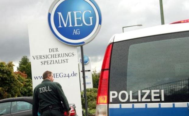 Durchsuchung bei der Meg in Kassel im Jahre 2007. Foto:  © dpa/picture alliance