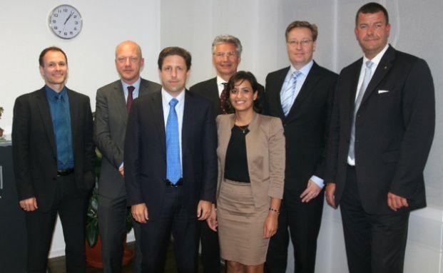 Thilo Rohrhirsch, Michael Sjöström, Daniel Koller, <br> Harald Schwarz, Noushin Irani, Dirk Arning, Björn Drescher (v. li.)