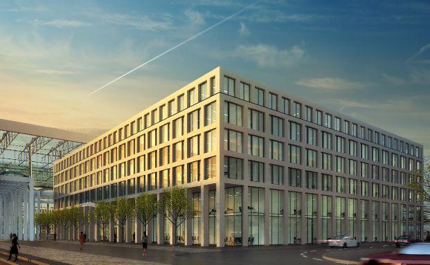 So soll die Büroimmobilie später mal aussehen, <br>Quelle: Berliner Flughäfen
