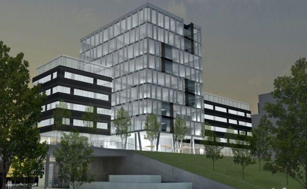 Illustration der B&uuml;roimmobilie des neuen Fonds <br> von Hamburg Trust