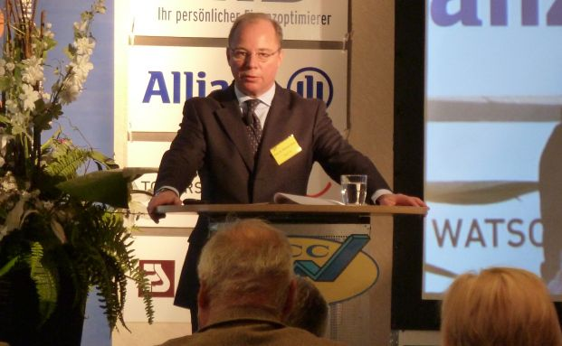 Allianz-Chefvolkswirt Michael Heise auf dem MCC-Kongress in Berlin.