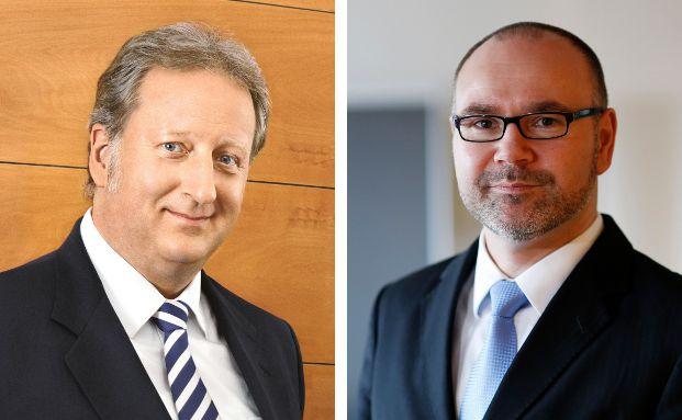 Folker Hellmeyer (l.) ist Chefanalyst, Thorsten Müller Leiter des Asset- und Portfoliomanagements der Bremer Landesbank.