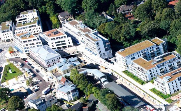 Stadtquartier am Bahnhof Hamburg-Blankenese