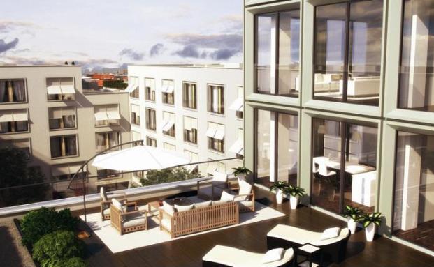 Das Wohnprojekt The Seven auf dem Gel&auml;nde eines ehe- <br> maligen Heizkraftwerks beherbergt die teuerste Bleibe der <br> Stadt. Das 700-Quadratmeterpenthouse in Wohnturm ging f&uuml;r <br> &uuml;ber 14 Millionen Euro &uuml;ber den Tresen