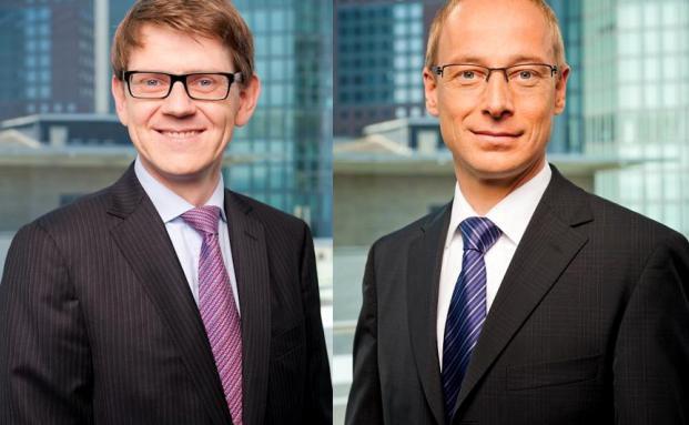 Holger Ullrich (links) und Holger Schröm, J.P. Morgan