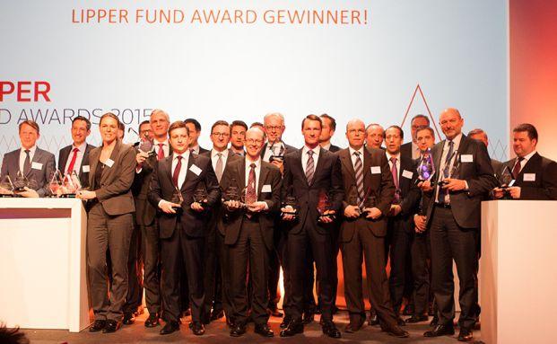 Die Preisträger der Lipper Fund Awards Europa 2015 im Palais Frankfurt. (Foto: Christian Scholtysik)
