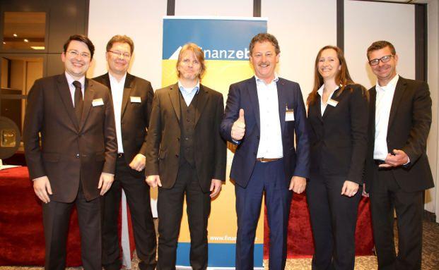 Die Organisatoren des 19. finanzebs-Forum (von links): Christian Schneider, Martin Huhn, Rüdiger Heck, Konrad Klar (Vorstandsvorsitzender), Dana Kallasch und Markus Nellesen. Foto: Oliver Lepold