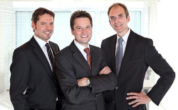 Haben Riester-Renten geprüft: Frank Nobis, Michael Hauer und Thomas Dommermuth (von links), allesamt Geschäftsführer des IVFP.