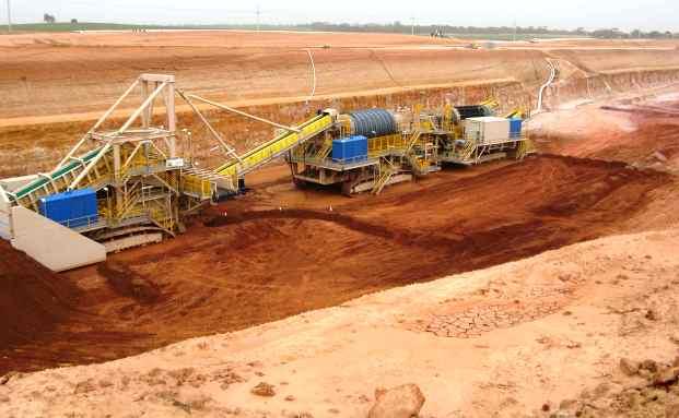 Mineralien-Mine der Firma<br>Iluka in New South Wales,<br>Australien (Foto: Iluka)