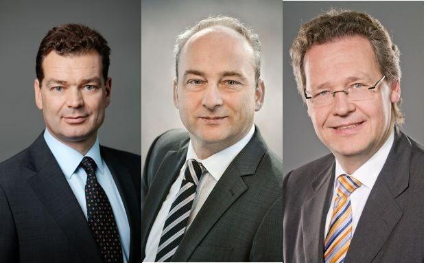 Frank Pörschke, Helge Scheunemann und Jörg Ritter (von links nach rechts)