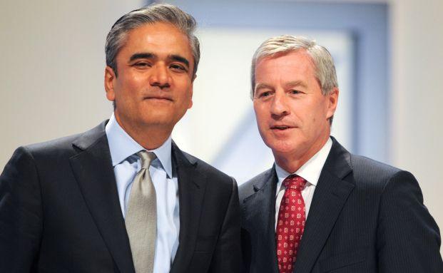 Anshu Jain (re.) und Jürgen Fitschen, das neue Führungsduo der Deutschen Bank. Quelle: AFP/Getty Images