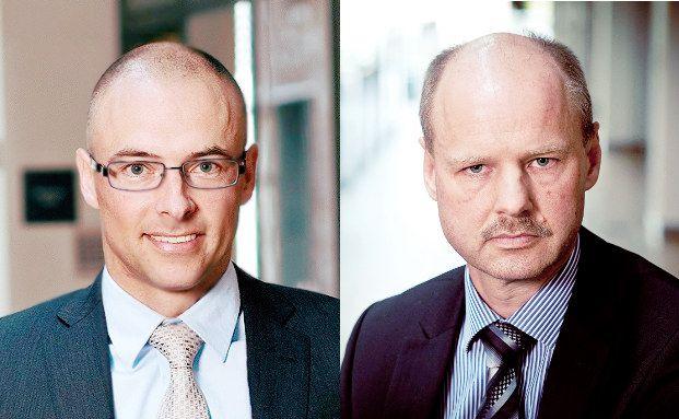 """Juhl Pedersen und Lars Soerensen, Fondsmanager bei Jyske Invest: """"Der dänische Anleihemarkt weist einige Besonderheiten auf""""."""