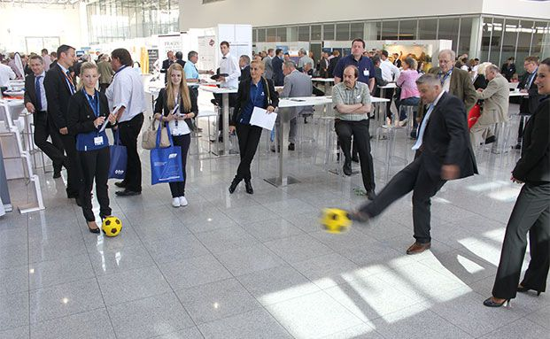 Auch auf der KVK war die Fussballweltmeisterschaft präsent. (Foto: Oliver Lepold)