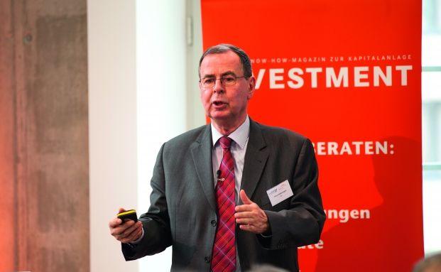 Fondsmanager Klaus Kaldemorgen auf einer Veranstaltung von DAS INVESTMENT. Foto: Christian Scholtysik