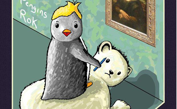 "Cover zu ""Mona Lisa´s Beard"" (Mona Lisas Bart), dem ersten Buch der Kinderbuchreihe ""The Snow Fall Gang"" von Simon McWhirter"