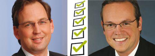 Martin Klein, Votum (links) und <br>Frank Rottenbacher, AfW