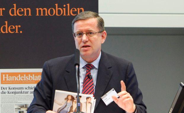 Hermann-Josef Knipper bei einer Veranstaltung des<br>Handelsblatts in Berlin. Foto: Euroforum/Gust