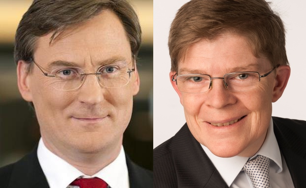 Anderer Meinung in Sachen Börsenentwicklung 2015: Wolfgang Köbler, Vorstand der KSW Vermögensverwaltung, und Lothar Koch, Portfoliomanager der GSAM + Spee Asset Management. (Foto: www.foto-remmer.de)