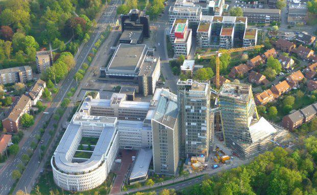 LVM-Gebäudekomplex in Münster. Die LVM wurde auf Kununu am besten bewertet. Foto: LVM Versicherung/Ralf Emmerich