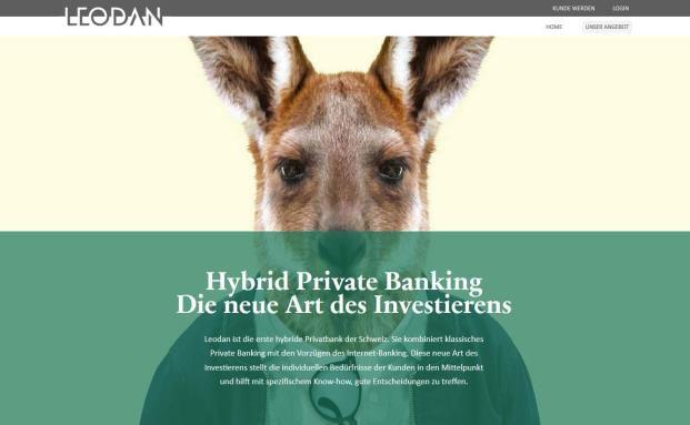 Screenshot von der Homepage: Im vergangenen Jahr hat sich die Leodan Privatbank erst umbenannt und die Strategie aufs Private Banking ausgerichtet