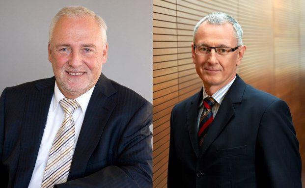 Vorstände Gerhard Schwarzer (Domcura) und Manfred Bauer (MLP)