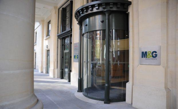 Eingang zum Hauptsitz von M&G im Londoner Governor's House
