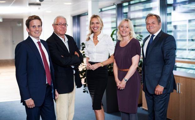 Das Manager-Team des Skagen Kon-Tiki: Erik Landgraff, Kristoffer Stensrud, Hilde Jenssen, Cathrine Gether, Knut Harald Nilsson (von links)