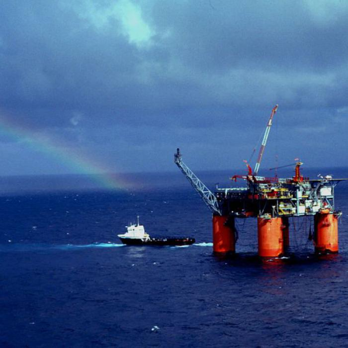 Die Marlin Platform von BP<br>fördert im Golf von Mexiko<br>Erdöl und Erdgas; Foto: BP