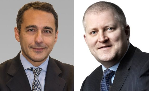Michele Patri (links), Portfoliomanager für europäische Aktien bei AB und Darren Williams, Senior Volkswirt für Europa bei AB.
