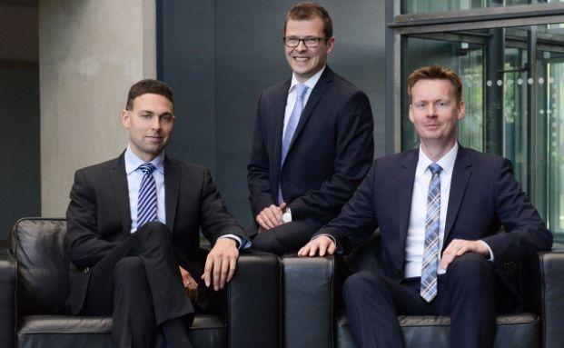 Das Fondsmanager-Trio (von links): Marc Momberg, Matthias Schiestl und Christian Hein