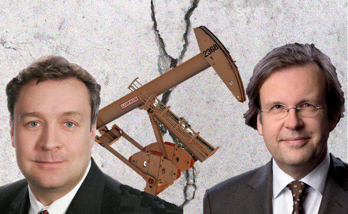 Christoph Bruns, Manager des Loys Global (links), argumentiert gegen Anko Beldsnijder, Manager des Fidecum Avant-Garde Stock Fund