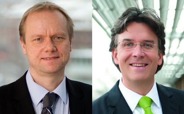 Aufsteiger im März: Nordea-Manager Asbjörn Trolle Hansen (links) und Frank Fischer von Shareholder Value Management