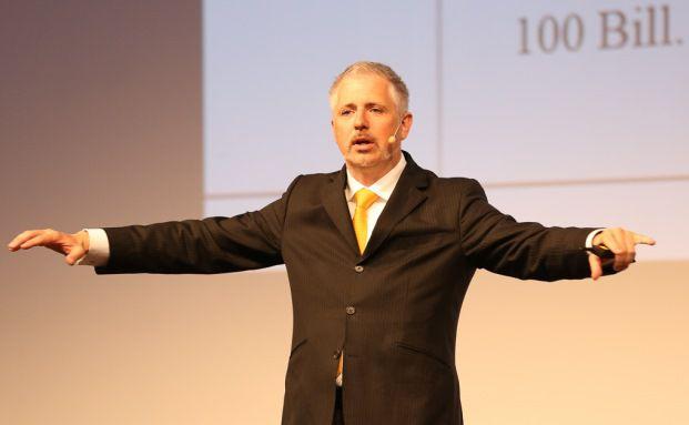 Dirk Müller auf der KVK-Messe in Düsseldorf. Foto: Fondsfinanz