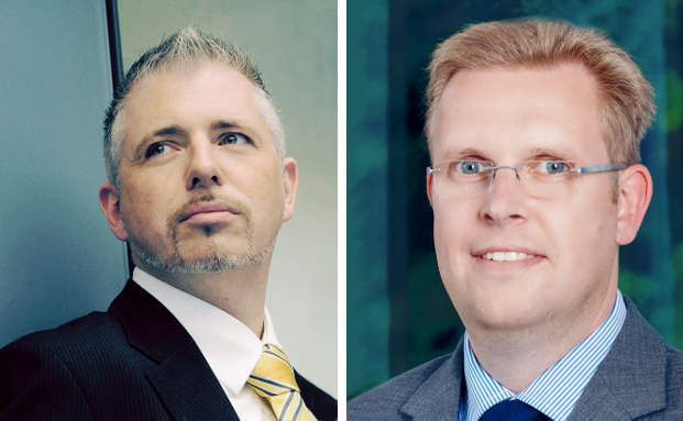 Nils Petersen (re.), Fondsmanager bei der Top Vermögensverwaltung erklärt, warum er den Aktienfonds von Mr. Dax Dirk Müller (li.) ins Portfolio nahm.