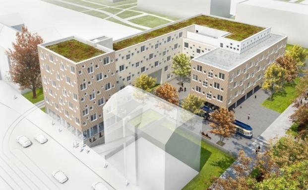Skizze vom künftigen Erweiterungsbau der TU München