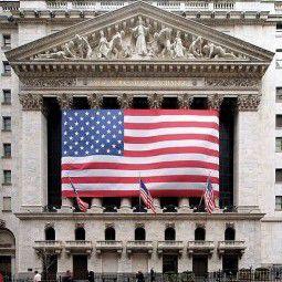 US-Börse in der <br> New Yorker Wall Street