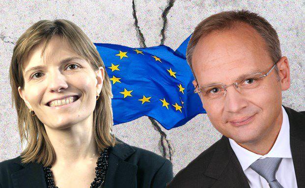 Kommen beim Thema Europa auf keinen gemeinsamen Nenner: Nadège Dufossé, Managerin des Candriam Sustainable High und Thomas Böckelmann, Manager des Euroswitch Substantial Markets OP
