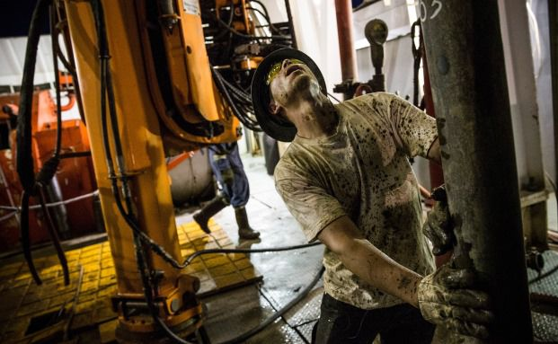 Watford City, North Dakota. Der Ölpreis sinkt immer weiter. Grund dafür sind die sinkende weltweite Nachfrage und die wachsende Förderung in den USA. Foto: Getty Images