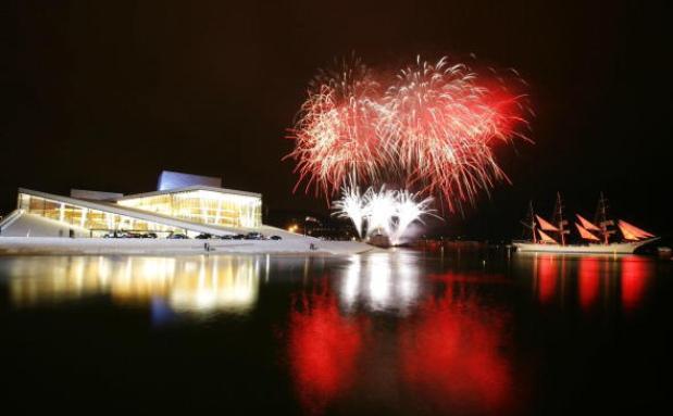 Das Opernhaus in Norwegens Hauptstadt Oslo. Viele Investoren flüchten in die Norwegische Krone, da sie den Euro nicht mehr für sicher halten. Foto: Getty Images