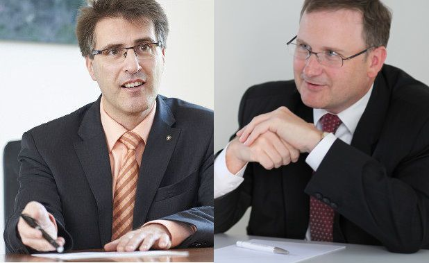 Manfred Wiegel (links) und Jens Pardeike