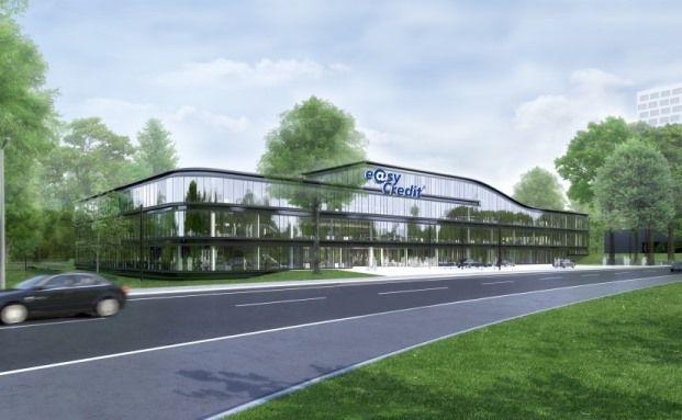 Zukünftige Unternehmenszentrale der TeamBank in Nürnberg (Foto: Baumschlager Eberle Lochau ZT GmbH (Lochau))
