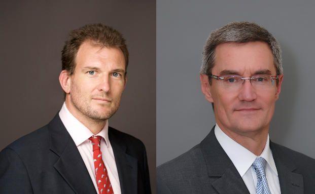 Simon Pickard (li.) ist Manager für Schwellenländeraktien<br>bei Carmignac Gestion, Didier Saint-Georges ist Mitglied<br>des Investmentkomitees