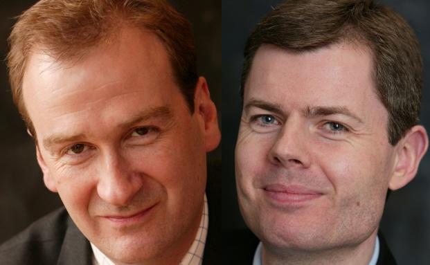 Mark Boulton (l) und Stephen Burrows.