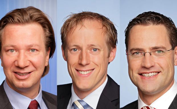 Pioneer-Vertriebler, v.l.: Markus Becker, Tobias L&ouml;schmann,<br>Holger Sch&auml;fer