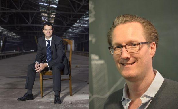 Oliver Pradetto, Geschäftsführer von blau direkt (links) & Olof von Lindequist, COO von feelix