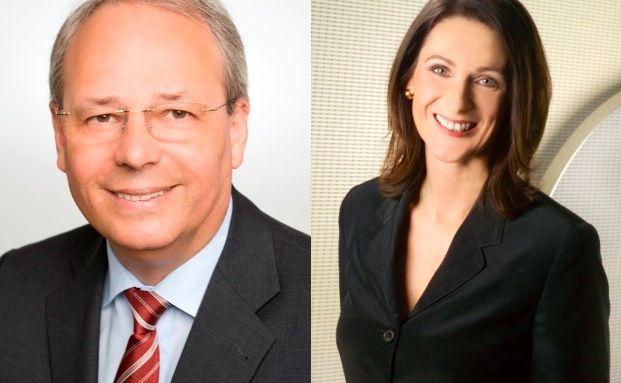 K&auml;mpfen noch f&uuml;r die Rettung ihrer offenen Immobilienfonds: <br> Karl-Heinz Heu&szlig; (CSAM Immobilien KAG) und Barbara <br> Knoflach (SEB Asset Management)